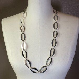 Silver Large-link Chain Necklace